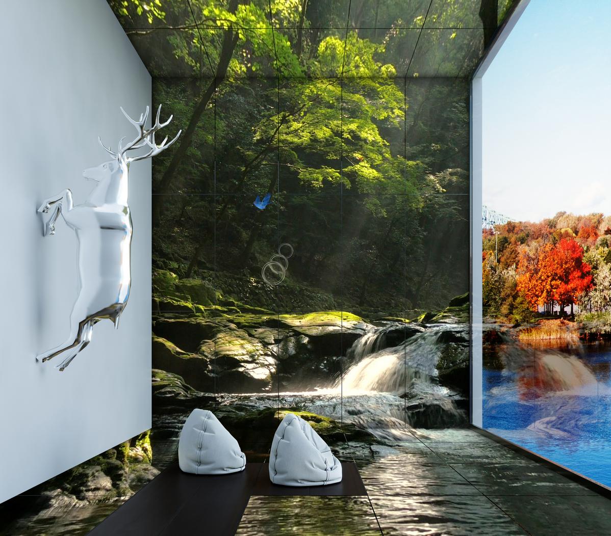 OLED로 완성한 예술, 미디어아트로 자연을 만나다.